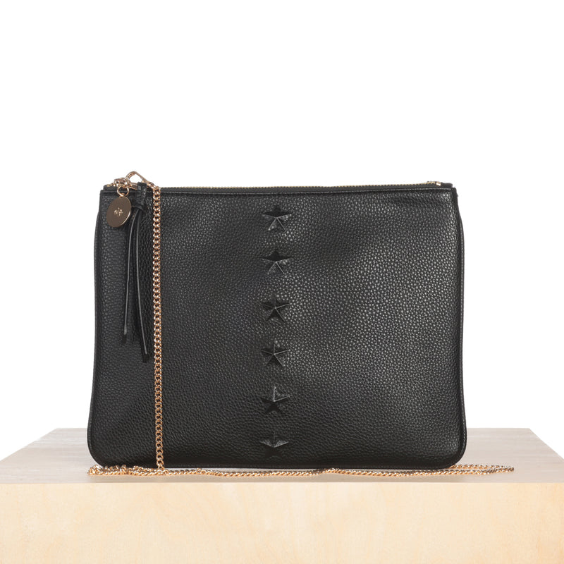 Editor's Pouch - Black Star with Chain
