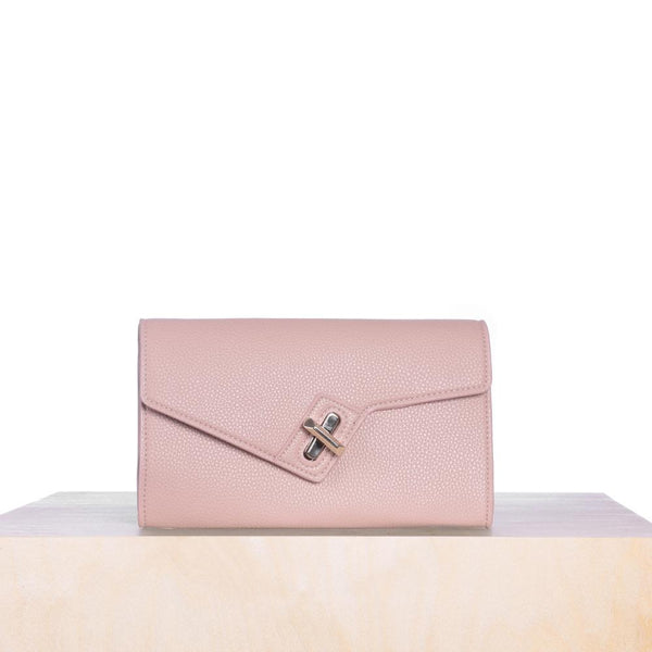 MILCK Clutch – Rose Pebble