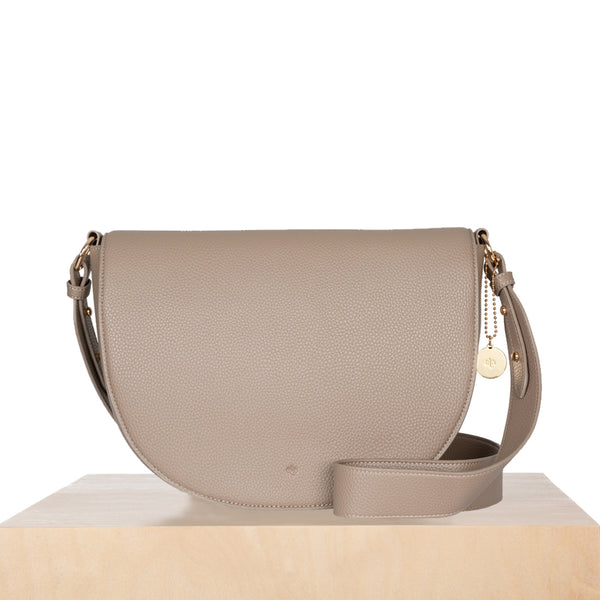 Saddle Bag - Taupe Pebble
