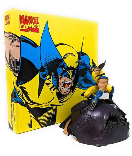 Wolverine Bundle Pack with Statue and X Men Mega Trading Card Collection, 1994/1995