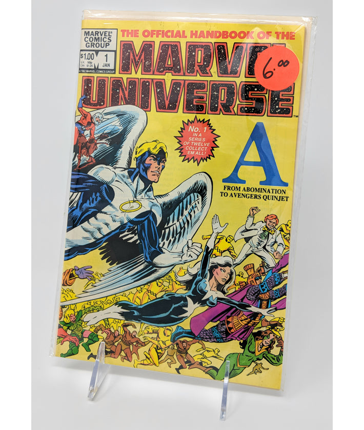 "The Official Handbook of the Marvel Universe #1 ""A"", January 1983 by Marvel Comics Group"