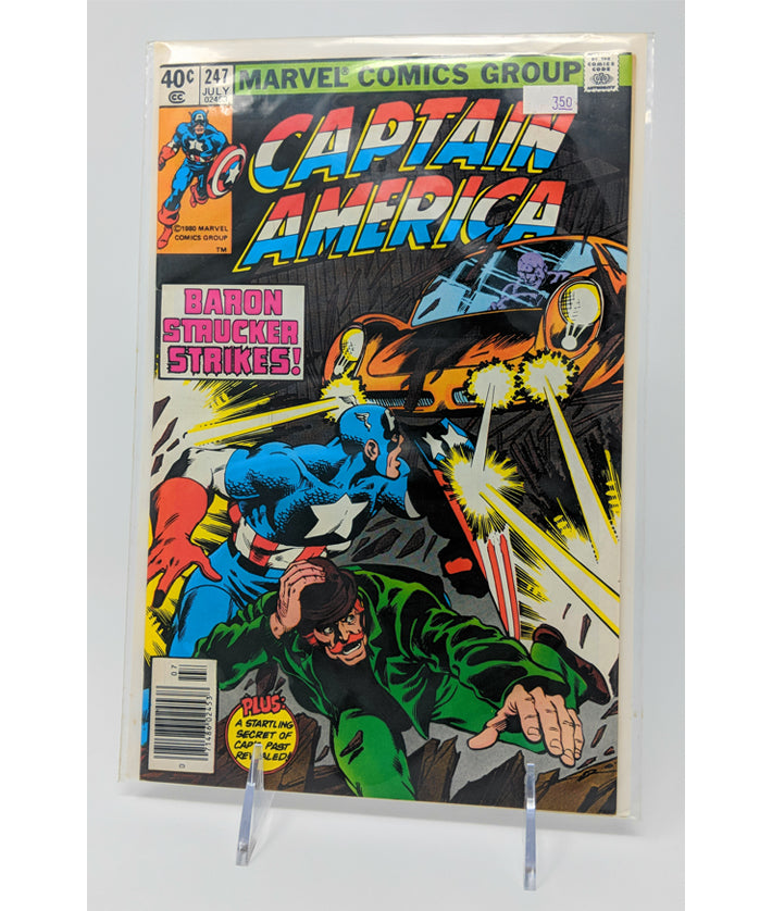 Captain America 1st Series #247 by Marvel Comics Group, July 1980
