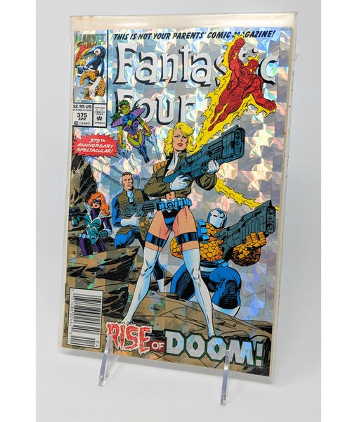Fantastic Four #375 Rise of Doom! Part 5 - April, 1993 Holographic Anniversary Cover