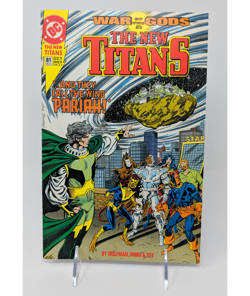 The New Titans #81 by DC Comics - December, 1991