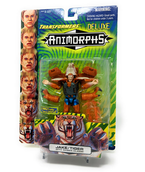 Animorphs 1998 Action Figure, Jake / Tiger with Saber Claws Plus Evil Yeerk