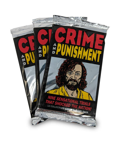 6 pack Crime and Punishment Trading Cards, 12 cards/pack