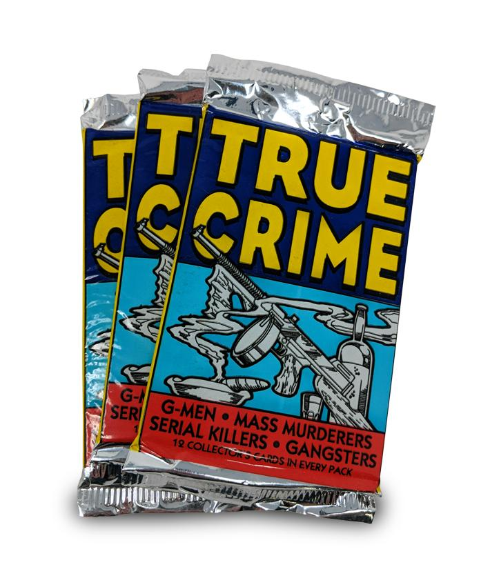 6 pack True Crime Trading Cards, 12 cards/pack