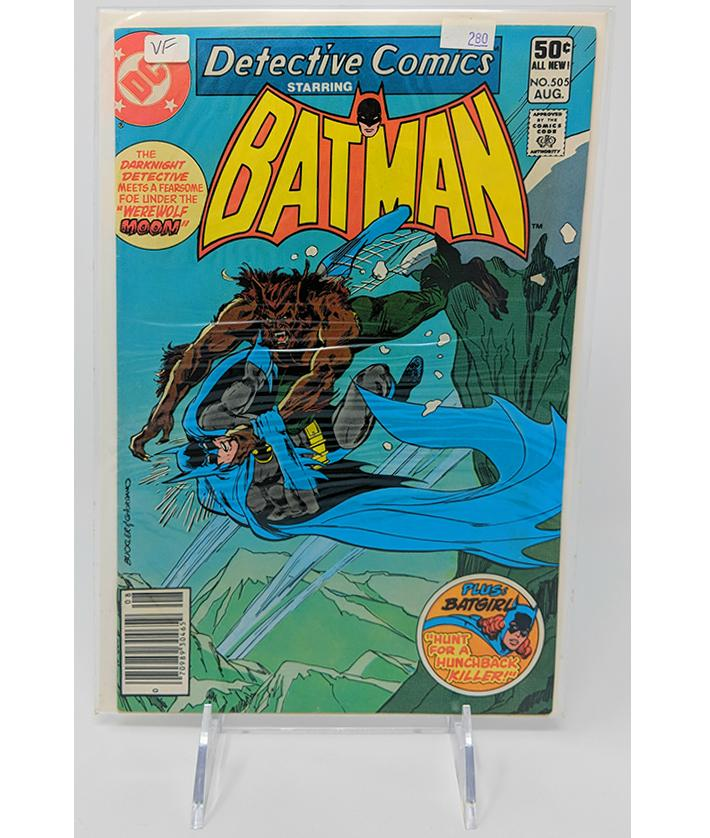 "Detective Comics #505 Batman ""Werewolf Moon"", August 1981 VF"