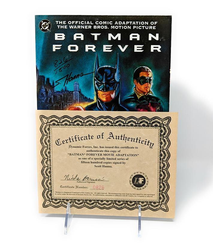 Batman Forever Graphic Novel Limited Edition #826/1500 Signed by Scott Hanna