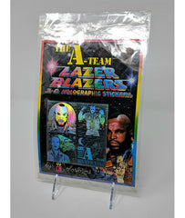 The A-Team (1983) Colorforms No. 8601, Lazer Blazers 3-D Holographic Stickers