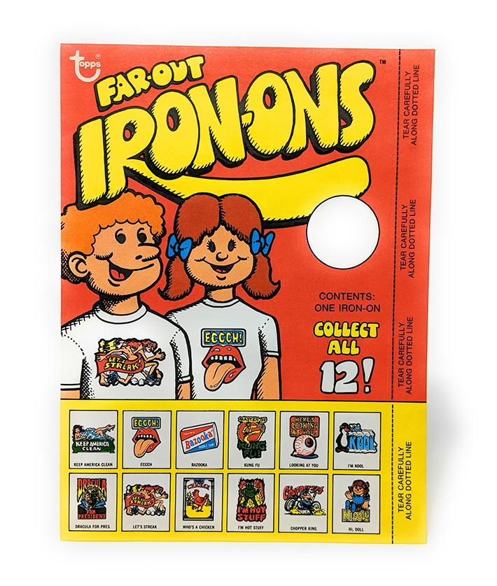 Far Out Iron Ons (1979) Topps Mystery Iron-on T-shirt Decal