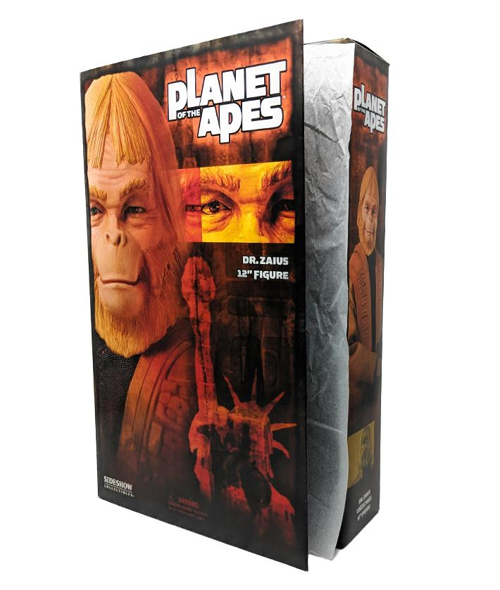 "Dr Zaius Planet of the Apes 12"" Action Figure by Sideshow Collectibles (2004) - Mint in Box"