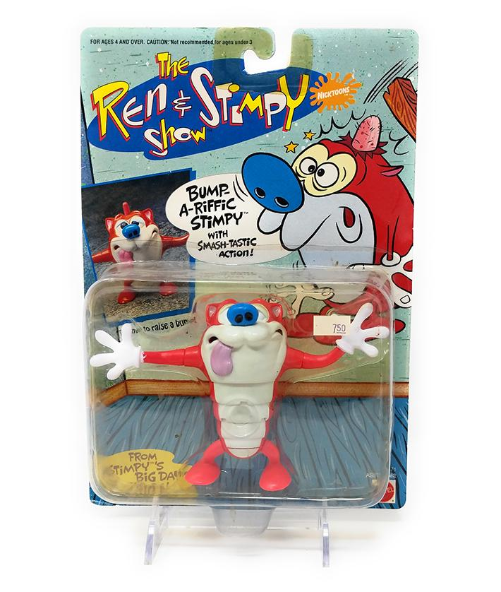 Ren & Stimpy (1993) Bump-a-riffic Stimpy Action Figure with Smash-tastic Action