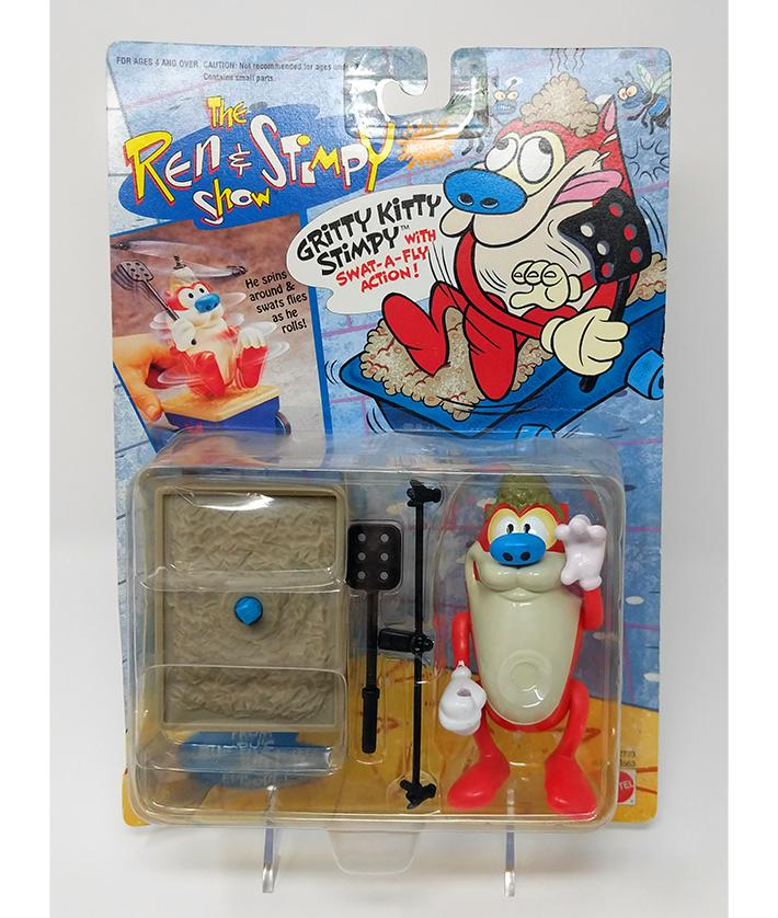 Ren & Stimpy (1993) Gritty Kitty Stimpy Action Figure with Swat a Fly Action