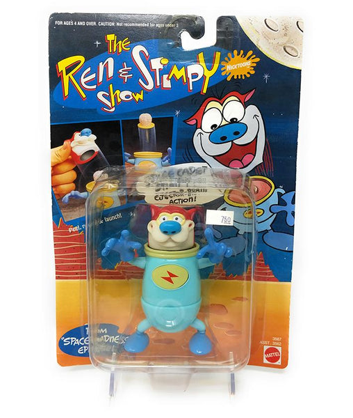 Ren & Stimpy (1993) Space Cadet Stimpy Action Figure with Ejector Brain