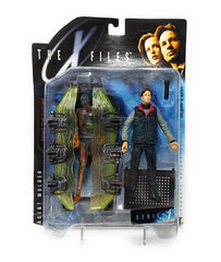 The X-Files (1998) Series 1 Agent Mulder Action Figure in Civilian Clothes and Cryopod - In Package