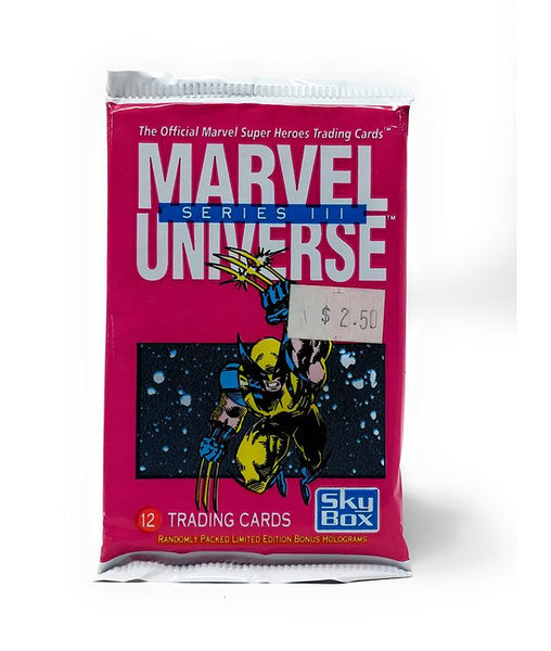 Marvel Universe (1992) Skybox Series 3 Trading Cards, Single Pack