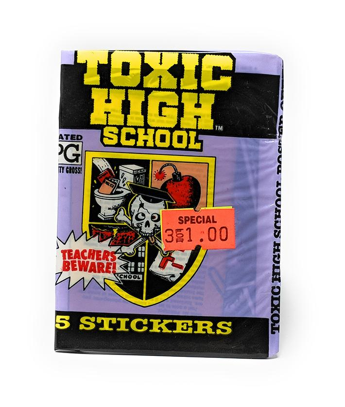 Toxic High School (1991) Topps Sticker Trading Cards, Single Pack