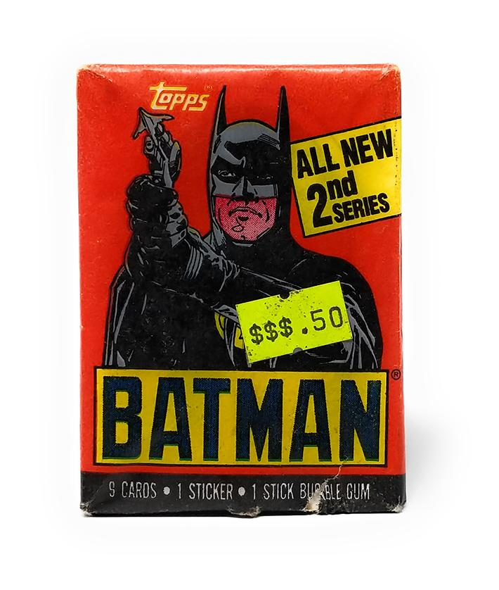 Batman (1989) All New 2nd Series Wax Pack Trading Cards, Single Pack