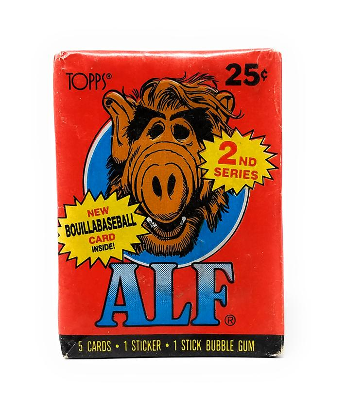 Alf (1987) 2nd Series Wax Pack Trading Cards, Single Pack