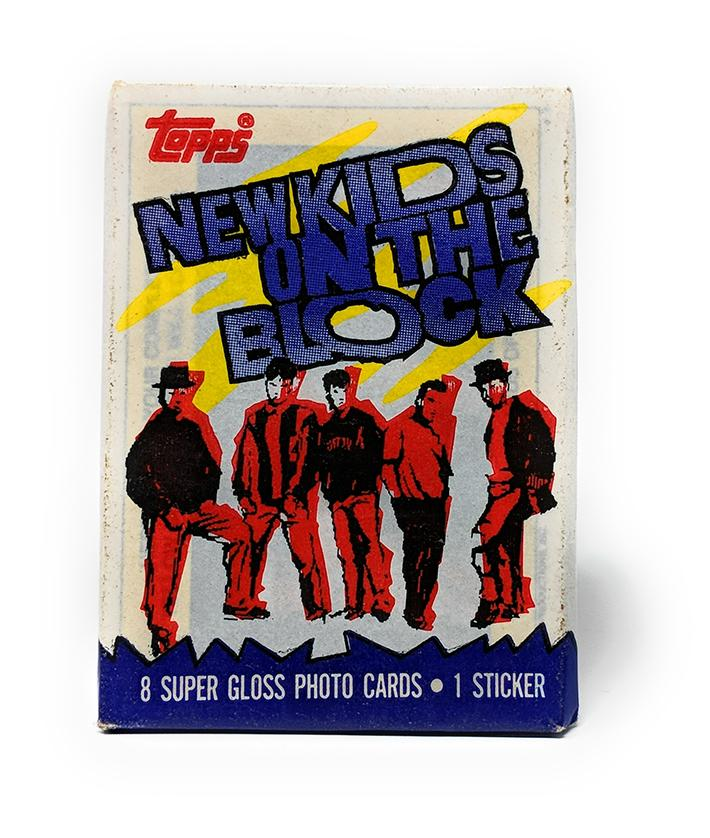 New Kids on the Block (1989) Topps Wax Pack Trading Cards, Single Pack