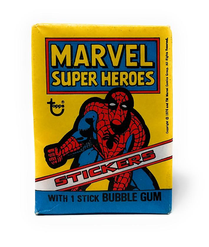 Marvel Super Heroes (1976) Wax Pack Stickers by Topps, Single Pack