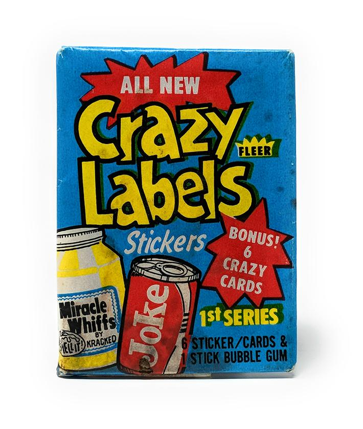 Crazy Labels (1979) Wax Pack Stickers by Fleer, Single Pack