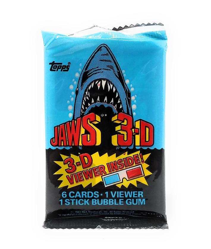 Jaws 3-D (1983) Topps Trading Cards with 3-D Viewer, Single Pack