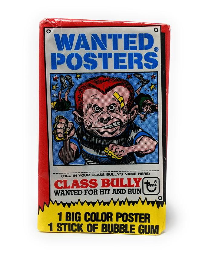 Wanted Posters (1980) Topps Wax Pack Poster