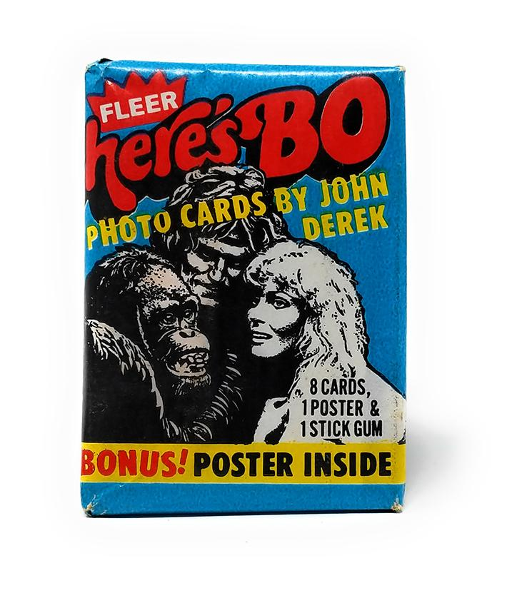 Here's Bo (1981) Fleer Wax Pack Trading Cards and Poster, Single Pack