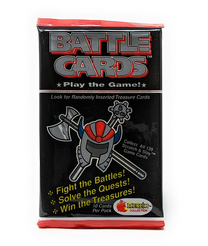 Battle Cards (1993) Merlin Collection Card Game, Single Booster Pack