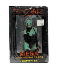 Razor (1997) Mega Chromium Oversized Trading Cards, Single Pack