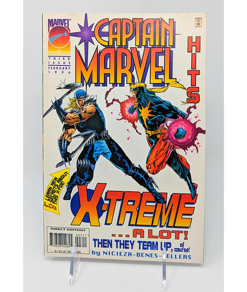 Captain Marvel Hits 3rd Issue (February 1996) Marvel Universe Comics, Direct Sales Edition