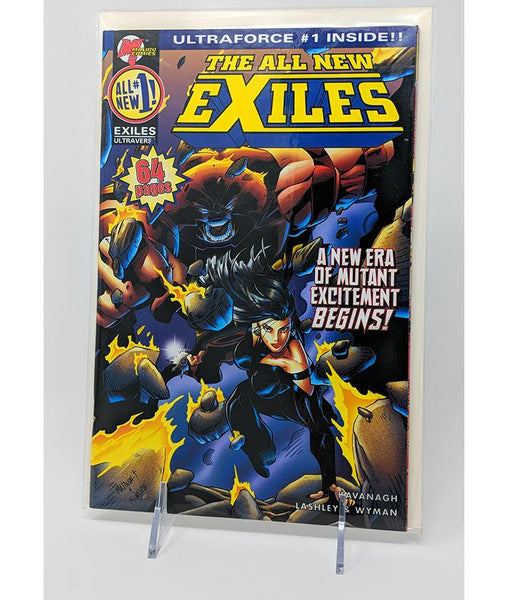 The All New Exiles #1 (October 1995) Malibu Comics, 64 Pages / Ultraforce #1 Inside