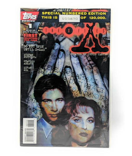 The X-Files #1 (1995) Topps Comics, Sealed Numbered Edition #103870 of 120,000