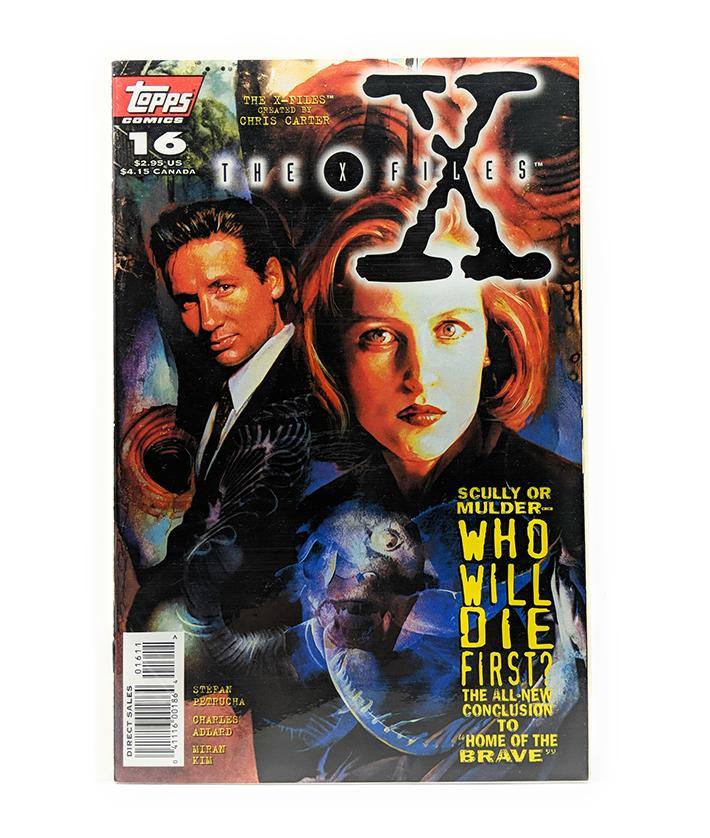 The X-Files #16 (1996) Topps Comics, Home of the Brave Part 2, Direct Sales Edition