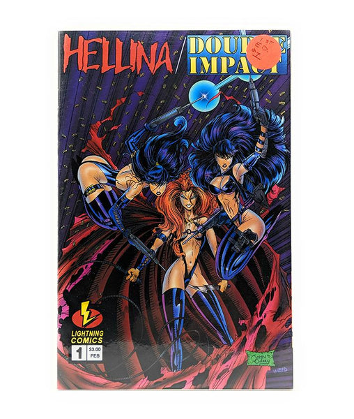 Hellina / Double Impact #1A (February 1996) Lightning Comics, 1st Edition