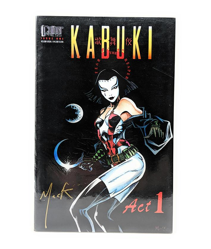 Kabuki #1 (1994) Signed, Caliber Press Comics
