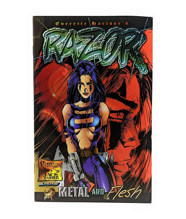 Razor (1996) Metal and Flesh Mini Comic Book by London Nights Comics