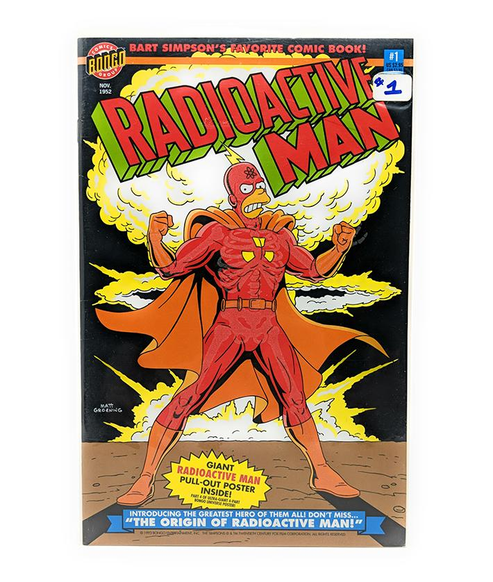Radioactive Man #1 (1993) Bongo Comics with Poster