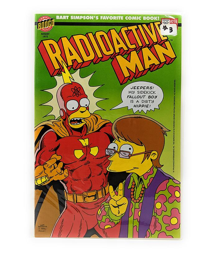 Radioactive Man #3 (1994) Bongo Comics, Fallout Boy is a Dirty Hippie!