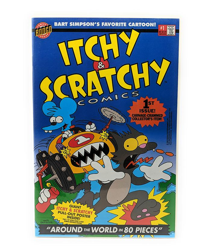 Itchy & Scratchy #1 (1993) Bongo Comics, Around the World in 80 Pieces