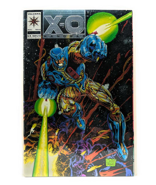X-O Manowar #0 (August 1993) Valiant Comics Foil Embossed Cover