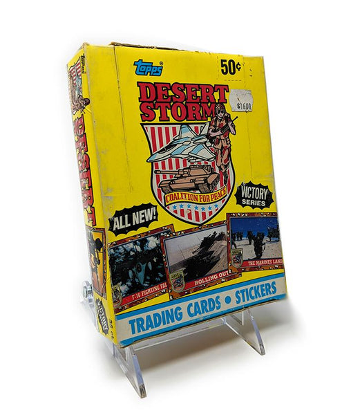 Desert Storm (1991) Topps Wax Pack Trading Cards - Full Box / Not Sealed