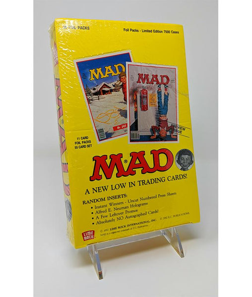 MAD (1992) Lime Rock Series 1 Trading Cards- Sealed Box, Limited to 7500