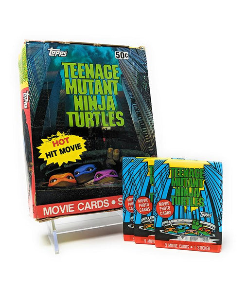 Teenage Mutant Ninja Turtles Movie (1990) Wax Pack Trading Cards - Full Box / Not Sealed