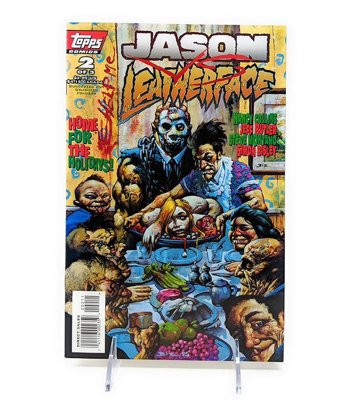 Jason vs. Leatherface #2 of 3 Topps Comics Direct Sales Edition, November 1995