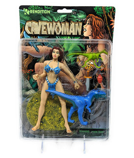 Cavewoman (1998) Rendition Action Figure, Rare Blue Suit Variant | Forward Generation