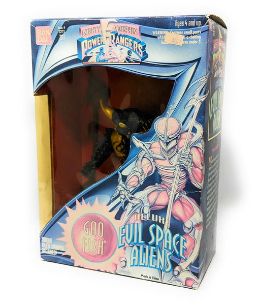 "Power Rangers (1994) Deluxe Evil Space Aliens Goo Fish 8"" Action Figure - NIB 