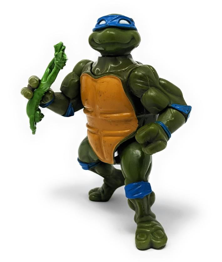 Ninja Turtles (1991) Playmates, Head Droppin Leo Action Figure